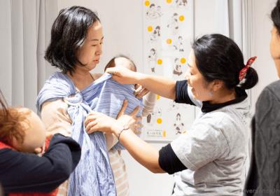 2021.10.18(月)ママとベビーの抱っこ・おんぶ講座@モーハウス日本橋ショップ